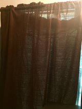 2 panels 4ft chocolate brown curtains in Okinawa, Japan