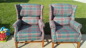 Set of wing back chairs in Yorkville, Illinois