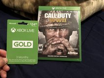FS: Call of Duty WWII & 3 Month XBOX Live in Barstow, California