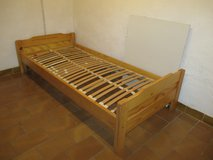 pine bed with slats in Ramstein, Germany
