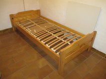pine bed with slats + mattress in Ramstein, Germany