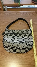 Coach Purse F15067 Black/Grey Shoulder Bag in Ramstein, Germany