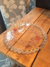 Glass rose large serving plate (H) in Lakenheath, UK