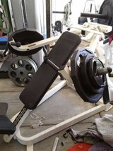 Gym incline chest machine weights workout in Camp Pendleton, California