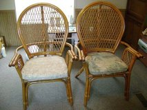 Vintage 1960's Highback Bamboo/Ratton Chairs in Fort Polk, Louisiana