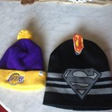 LAKERS/SUPERMAN BABY BEENIES in Travis AFB, California