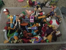 Shoe box full of little plastic people lots of disney in Camp Lejeune, North Carolina