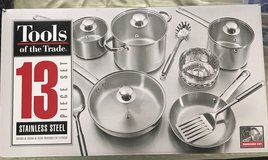 Cookware Set 13-pcs Stainless Steel -New In Box - NEVER USED in Macon, Georgia
