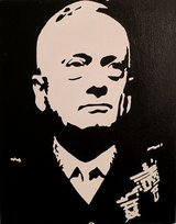 Black and White Mattis painting in Camp Pendleton, California