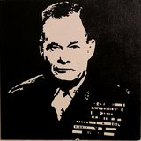 Black and White Chesty Puller painting in Camp Pendleton, California