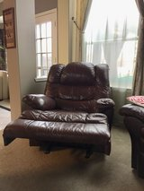 Brown  leather rocker recliner in Plano, Texas