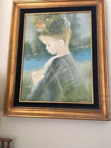Framed signed Canvas Oil  Painting of a Girl in Vacaville, California