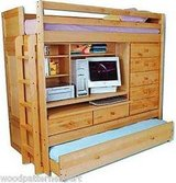 ALL-IN-ONE BUNK BEDS DRESSER CLOSET DESK in Sandwich, Illinois