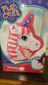 Unicorn pillow craft- brand new, never opened. in Naperville, Illinois