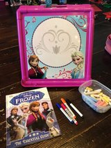 Frozen chalk/ white board and manual/stamps in Okinawa, Japan