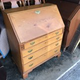 Antique Pine Drop Front Desk in Cherry Point, North Carolina