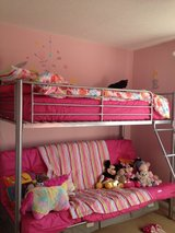 Single bunk bed over double sofa bed in Lakenheath, UK