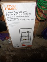 Garage HDX Shelving Rack Storage Unit 5-Shelves Wire Shelf 36x16x72 in. in Glendale Heights, Illinois