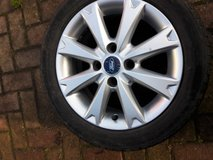 Ford Fiester Alloy wheel with tyre 195/50R 15 82H 2.5 mm tread in Lakenheath, UK