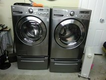 LG front loading washer and drier in Dothan, Alabama