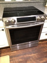 Samsung - 5.8 Cu. Ft. Self-Cleaning Slide-In Electric Convection Range - Stainless steel in Travis AFB, California