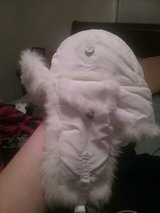 mad bomber white fur hat in Fort Campbell, Kentucky