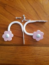 Pink Flower Curtain pull backs in Oswego, Illinois