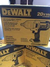 brand new in the box dewalt 1/2 drive impact tool only $150 in Warner Robins, Georgia