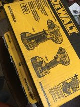 dewalt brand new in the box hammer drill and impact tool set $250 in Warner Robins, Georgia
