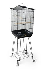 Prevue Pet Products Penthouse Suites Crown Roof Bird Cage with Black Stand in Aurora, Illinois