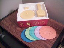 Fisher Price Music Box Record Player with 5 Records in Schaumburg, Illinois