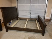 Cali king sleigh bed frame and night stand in Fort Bragg, North Carolina