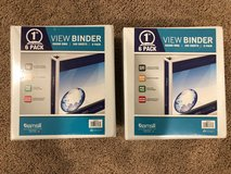 Set of 12 brand new three ring binders in Oswego, Illinois