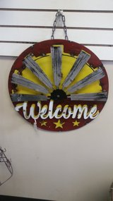 Metal Welcome Sign in St. Charles, Illinois