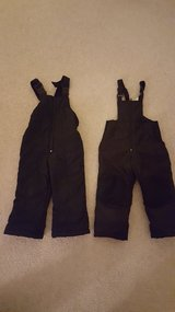 2 black snow pants bibs for 4T boy or girl in Aurora, Illinois