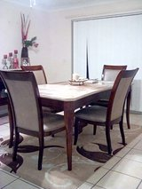 Leather Couch, Desk, Dining Table, Cabinet in Lakenheath, UK