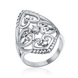 ***BRAND NEW***Elegant Silver Cz Filigree Hearts Stainless Steel Ring***SZ 7 in Cleveland, Texas