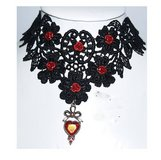 Victorian Gothic Choker Necklace Earrings and Gloves SET in Tinley Park, Illinois