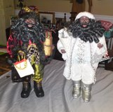 Two large Black Santas -  New in Camp Lejeune, North Carolina