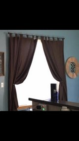 Brown Curtains in Olympia, Washington