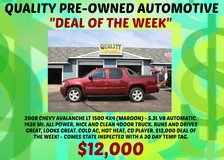 2008 CHEVY AVALANCHE LT 1500 4X4 - 143K MI. SUNROOF $12000 ON SALE!! in Fort Leonard Wood, Missouri