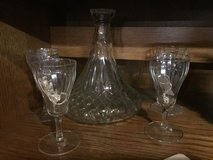 Antique wine decanter with glasses in Warner Robins, Georgia