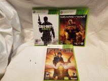 3 Xbox 360,Video Games for $8.00 in Beaufort, South Carolina