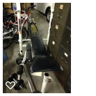 Weight bench and weights in Plainfield, Illinois