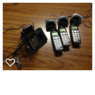 4 phone Panosonic cordless phone with answering machine in Morris, Illinois