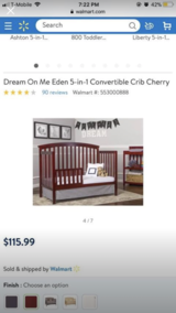 Brand New Crib Color Black Still in Packaging It came with When Delivered in Vacaville, California
