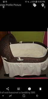 Land of nod bassinet w stand and bedding in Shorewood, Illinois