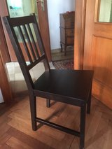 Ikea wooden chairs (4 black) PPU in Stuttgart, GE