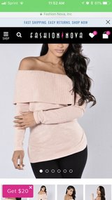Fashion Nova off the shoulder sweater in Fort Leavenworth, Kansas