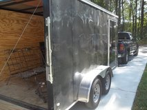 2016 14 x 7  dual axle rear ramp door  enclosed trailer in Warner Robins, Georgia